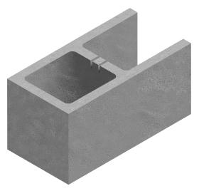 A Shaped Block 8x8x16